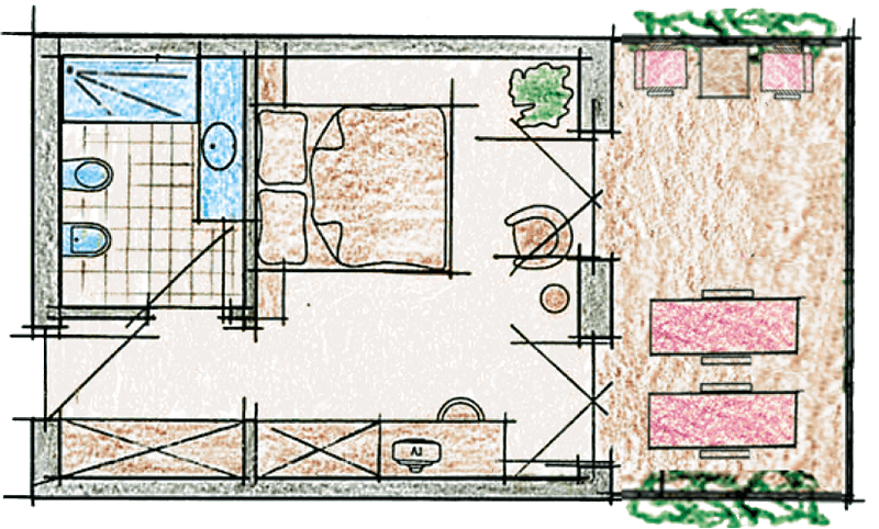 Double room Classic D room map
