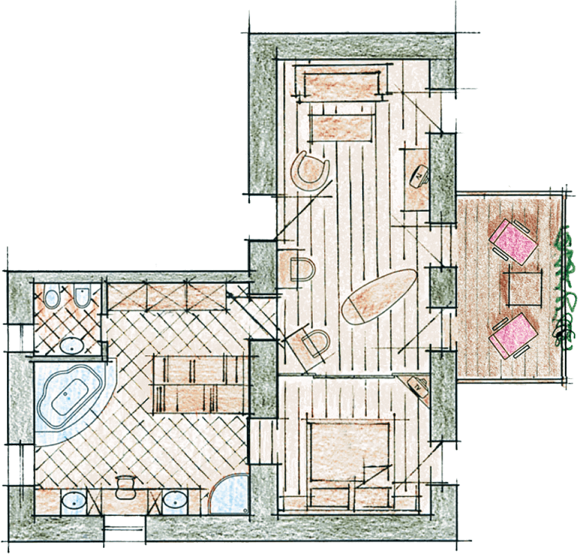 Luxury Suite L room map